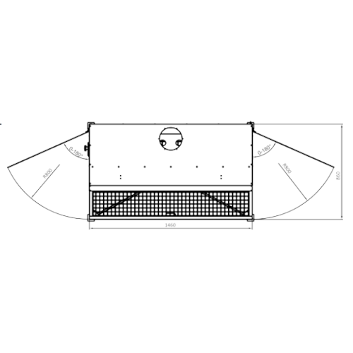 VAUPEL_Absaugtisch_für_thermisches_Schneiden_Typ_UES-N_technische_Zeichnung_Flügelrotation