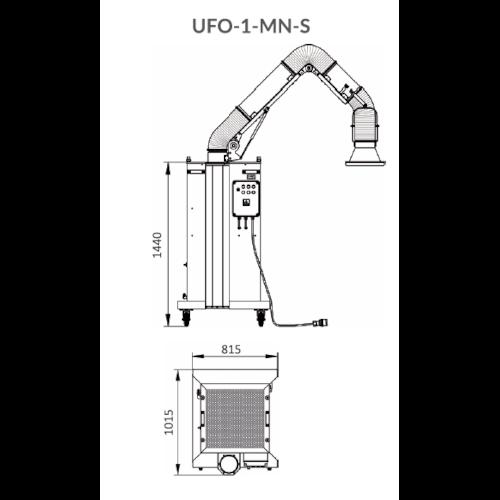 VAUPEL_Schweißrauchabsaugung Typ UFO-1_MN_S_technische_Zeichnung