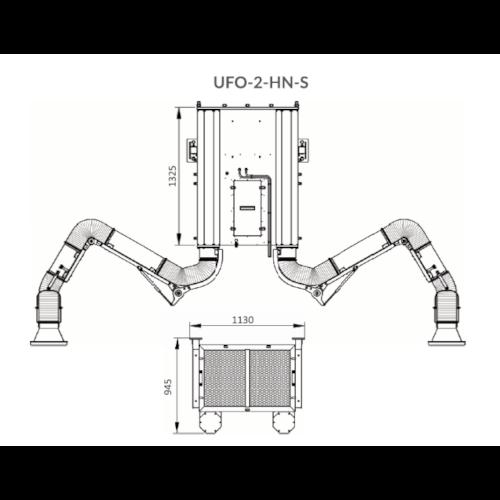 VAUPEL_Schweißrauchabsaugung Typ UFO-2_HN_S_technische_Zeichnung