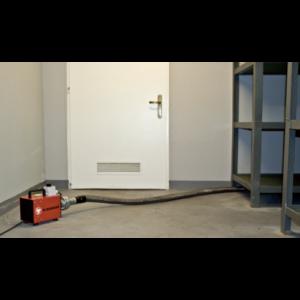 Anwendungsbeispiel Hochdruckgebläse Typ DOG 1 trocknen von Wänden