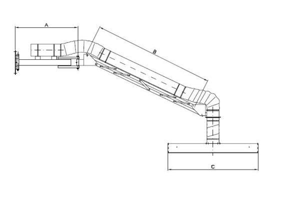 schwenkbare Absaughaube Typ LE - Technische Zeichnung für LE 3000 und 4000 | Vaupel-Shop