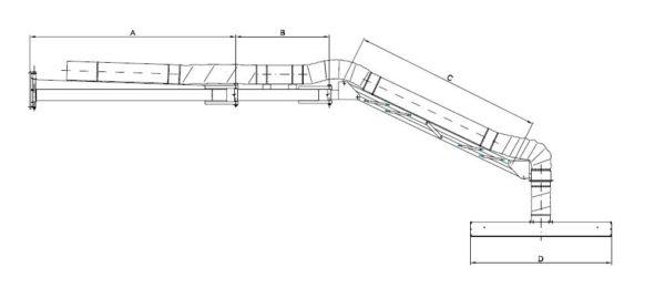 schwenkbare Absaughaube Typ LE - Technische Zeichnung für LE 5000 und 6000 | Vaupel-Shop