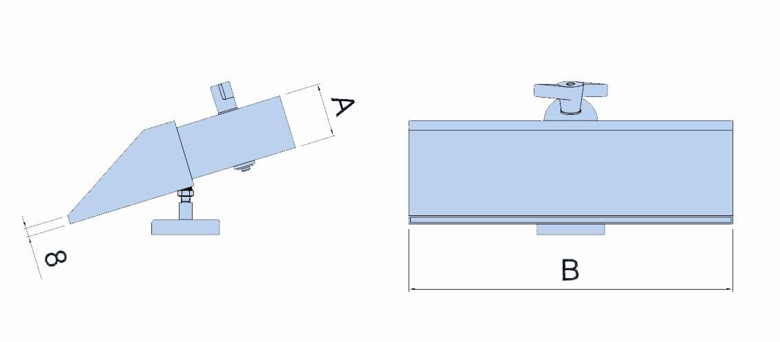 Saugschlitzdüse Typ LSP-MS wahlweise mit Ø 80mm oder Ø 100mm - mit Magnet und Klappe