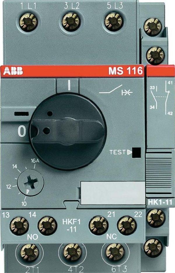 Handbedienter Motorschutzschalter Serie MS 116