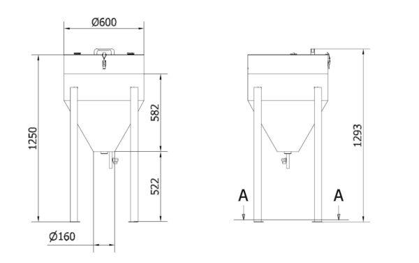 Skizze Precoatieranlage Typ PCA-12