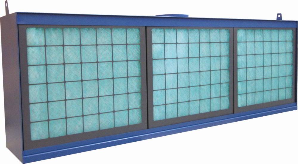 Absaugwand Typ UP - Höhe 1m - Breite 3m - mit Paint-Stop Filter für Lackierarbeiten