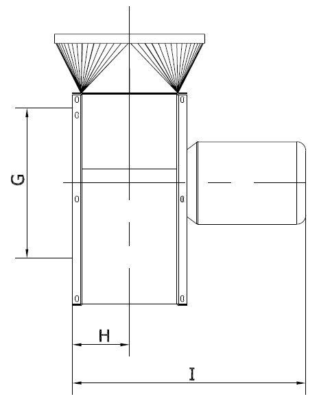 Ventilator Typ VE - Technische Zeichnung Seite