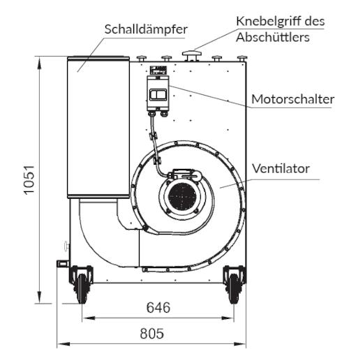 VAUPEL_mobiler_Staubabscheider_Typ_Robust-1000_technische_Zeichnung