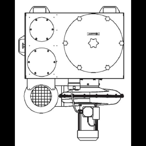 VAUPEL_mobiler_Staubabscheider_Typ_Robust-1000_technische_Zeichnung_oben