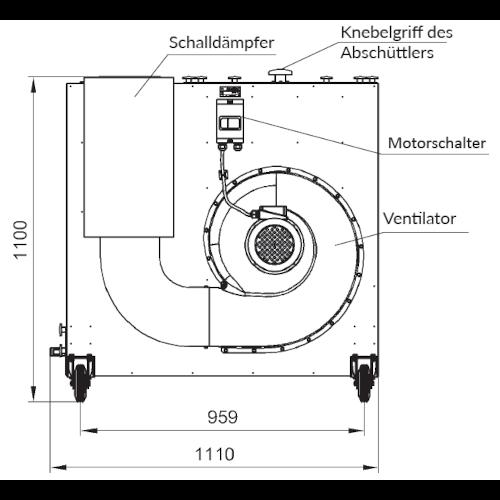 VAUPEL_mobiler_Staubabscheider_Typ_Robust-2000_technische_Zeichnung