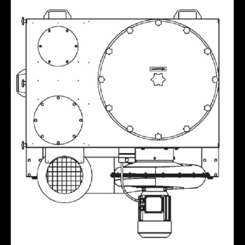 VAUPEL_mobiler_Staubabscheider_Typ_Robust-2000_technische_Zeichnung_oben