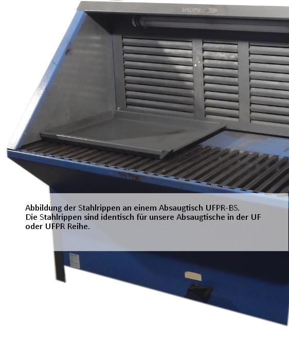 Stahlrippen für Absaugtisch Typ UF/UFPR