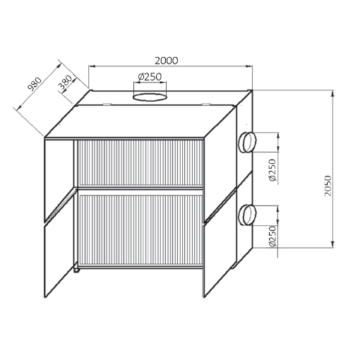 VAUPEL_Farbspritzwand_Typ_FPS-2_technische_Zeichnung