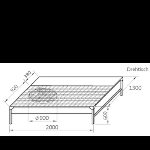 VAUPEL_Farbspritzwand_mit_UWT_Werkbank_Typ_FPS-1_technische_Zeichnung