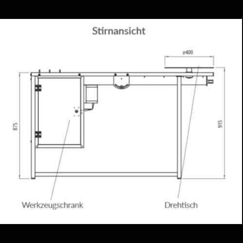 Schweißtisch Typ ERGO-STW-F incl. Absaugarm und Filtereinheit