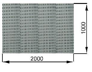 perforierter Labyrinthfilter für farbspritzwand FPS