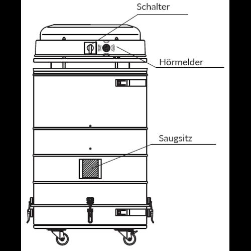 VAUPEL_hochvakuum_Schweißrauchabsaugung_Typ_Splendid-VAC-200_technische_Zeichnung_Back